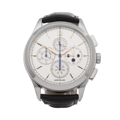 MontBlanc Heritage Chronometrie Chronograph White dial Automatic Men's Watch 114875