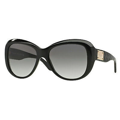 Versace Black Gold Fashion Women's Non-polarized 57 mm Sunglasses Plastic Frame VE4285GB111
