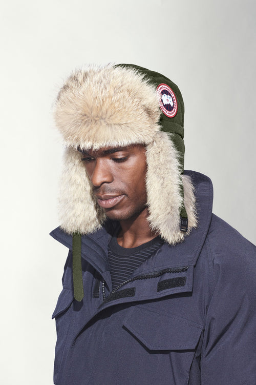 Canada Goose Men's Aviator Hat Military Green 5187M Size L/XL (Large/Extra Large)