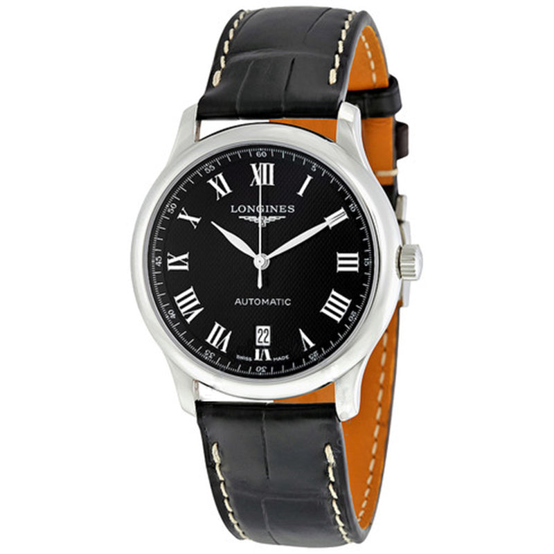Longines Master Collection Men's Watch 38.5 mm Black dial and Leather strap L26284517