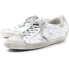 Golden Goose White and Grey Perforated Superstar Women Sneakers GCOWS590.A5