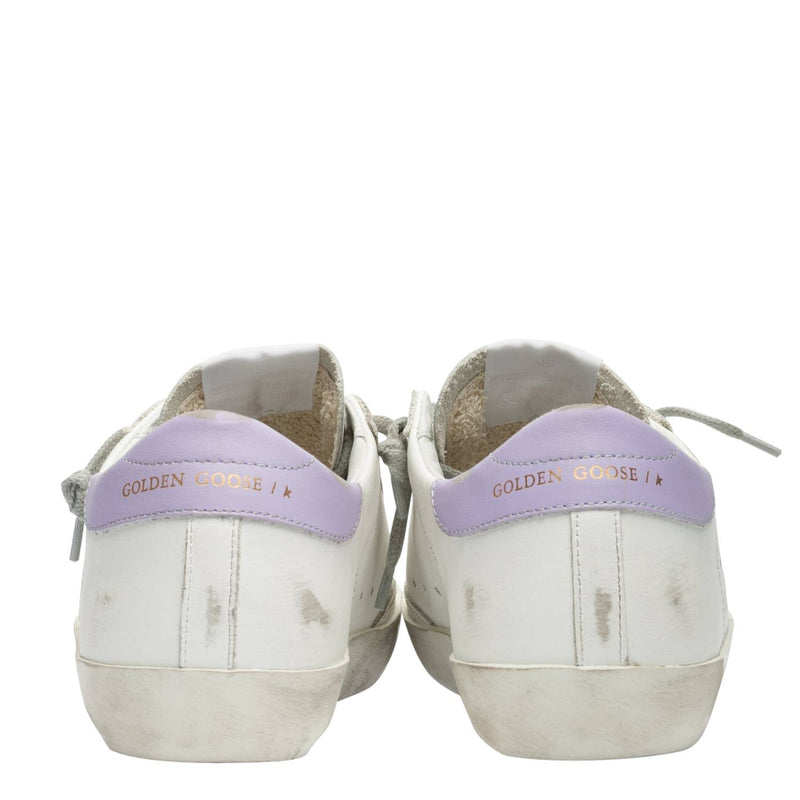 Golden Goose Deluxe Brand Superstar Women's Leather White/Grey Sneakers G36WS590.T11