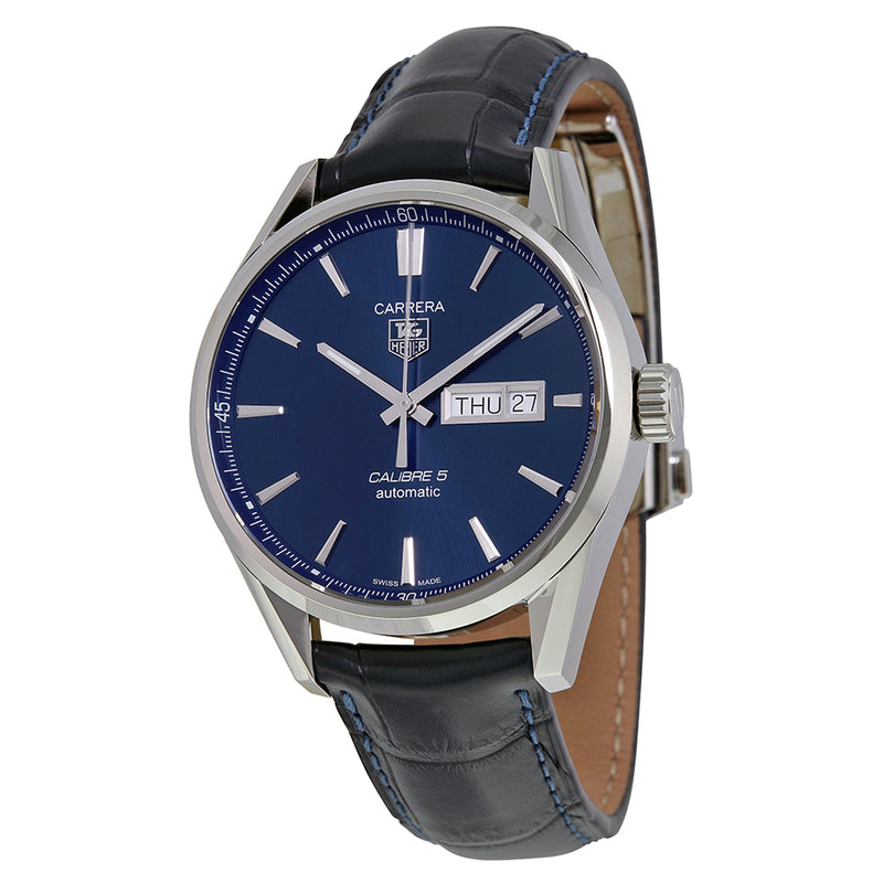 Tag Heuer Carrera 41 mm Automatic Men's Watch Blue Dial Leather Strap WAR201E.FC6292