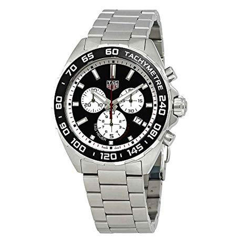 TAG Heuer Formula 1 Chronograph 43 mm Black Dial Silver-tone Men's Watch CAZ101E.BA0842