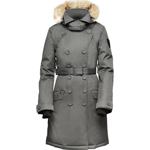 Nobis Tula Ladies Peacoat Two-way Zipper Crosshatch Waist Belt Hidden Zipper Closure TULA-W-C