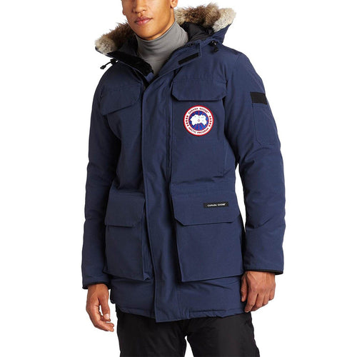 Canada Goose Mens Slim fit Citadel Parka with high pile fleece for the chin guard 4567M