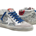 Golden Goose Mid Star Grey Suede Ladies Sneakers Leather Rubber Sole G34WS634.P9