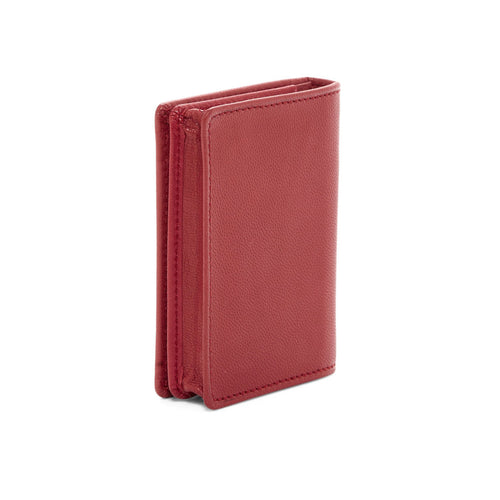 Tumi  Chambers Gusseted Leather Card Case - Crimson