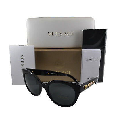 Versace Black Gray 56 mm Non-polarized Sunglasses For Women Plastic Lens VE4294GB187