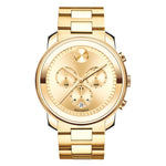 Movado Bold Champagne Dial with Yellow Gold-tone Hands Men's Watch Date Display 3600278