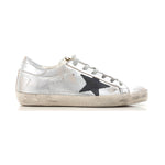 Golden Goose Deluxe Brand Superstar Gold Silver Women Sneakers G32WS590.G34