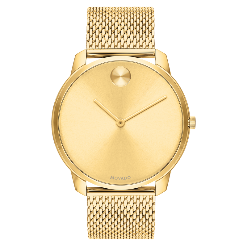 Movado BOLD 42 mm Yellow Gold Ion-Plated Stainless Steel Case Mens Watch 3600588
