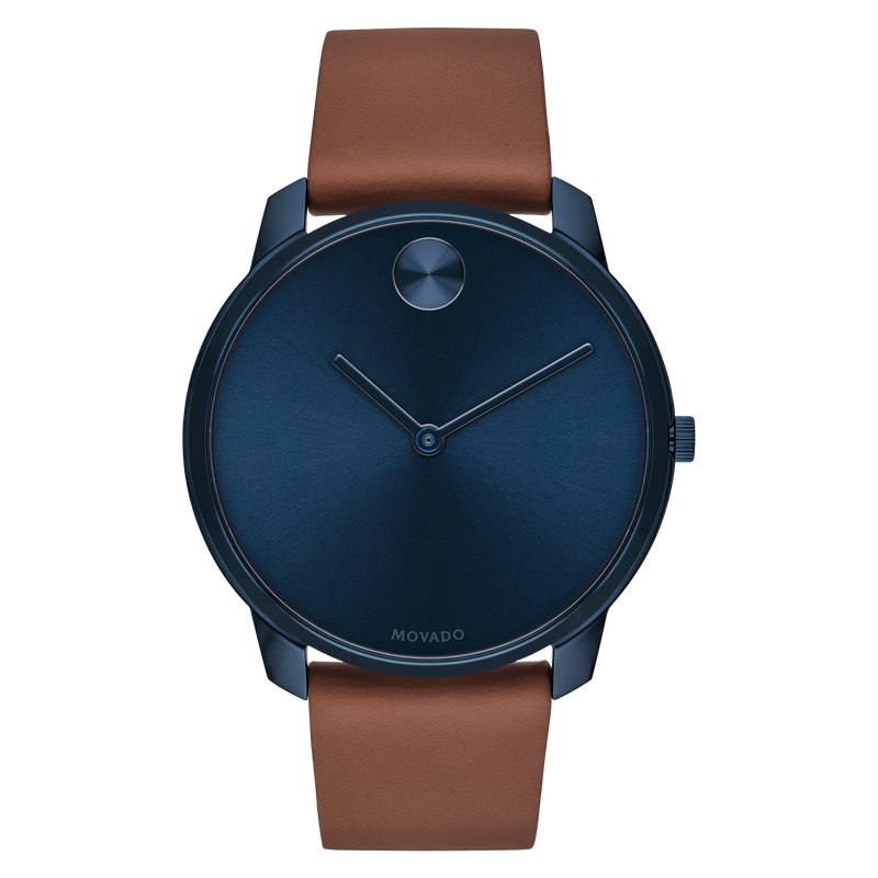 Movado BOLD 42 mm Blue ion-plated Stainless Steel Case with Blue-Toned Dial Mens Watch 3600585