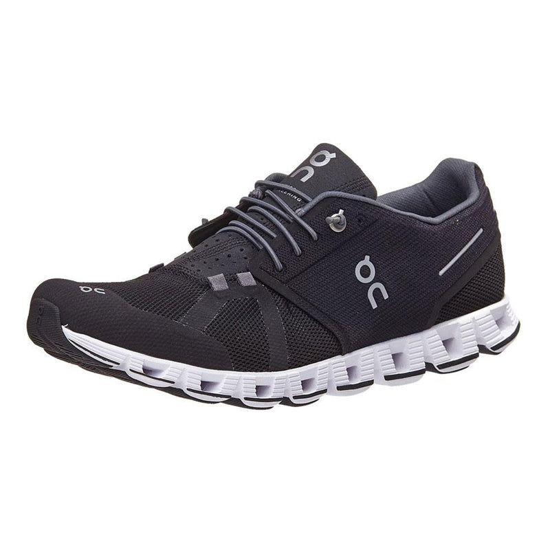 On Running Cloud Men's Sneakers Zero-Gravity Foam V-Molded Heel Black/White 190000
