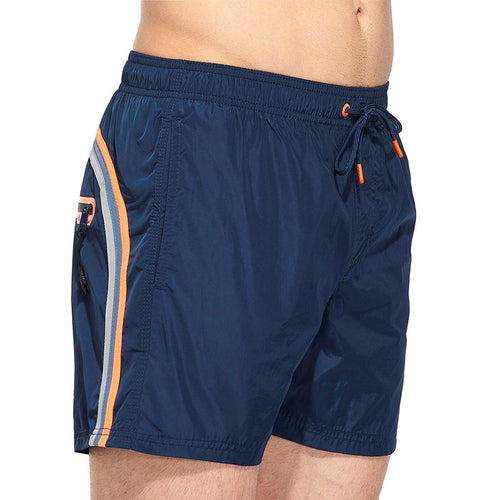 Sundek Men's Elastic Mid-Length Regular Waist Swim Shorts Welded Zip Pocket M552BDM0600SD