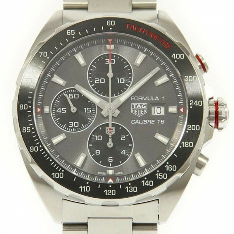TAG Heuer Formula One Chronograph Grey Dial Silver-tone Hand Men's Watch CAZ2012.BA0876