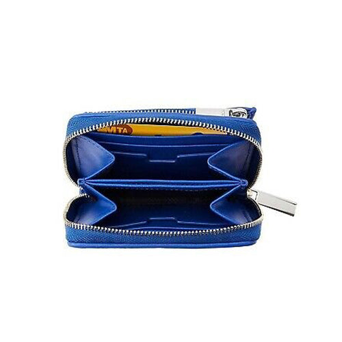 Tumi Montague SLG-Zip around Blue small wallet