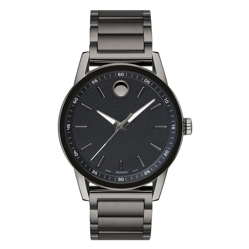 Movado Museum Sport Black Dial Stainless Steel Analog Water resistant Men's Watch 0607226