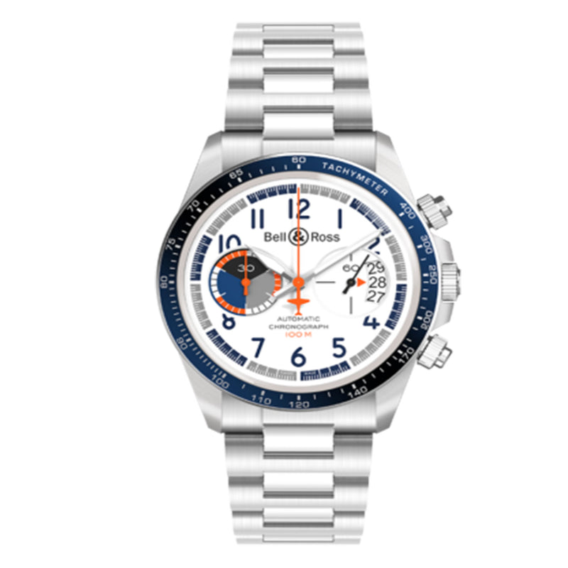 Bell & Ross Vintage Racing Bird Men's Watch 41 Mm White Limited Edition BRV294-BB-ST/SST