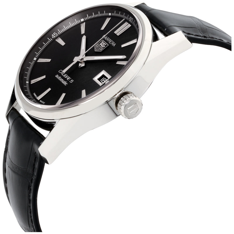 Tag Heuer Carrera Aautomatic Men's Watch 39 mm Black Dial Leather Strap WAR211A.FC6180