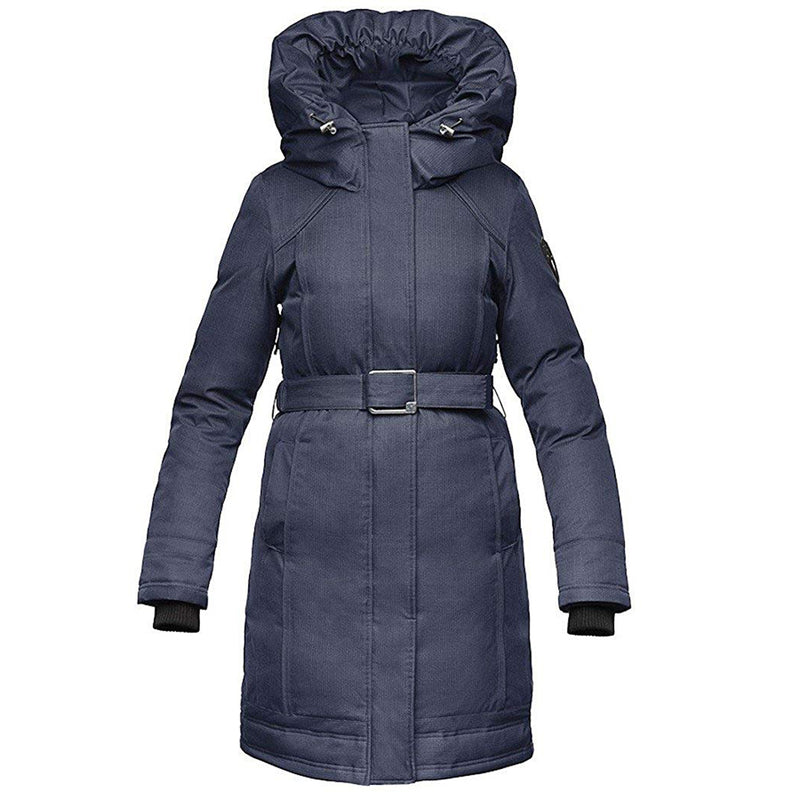 Nobis Astrid Ladies Furless Oversized Hooded Down Coat Navy/Blue Polyester ASTRID-CN-S
