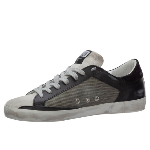 Golden Goose Deluxe Brand Superstar Black/Grey Leather Mens Sneaker G36MS590.U69