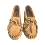 Minnetonka Women's Kilty Hardsole Fashion Soft Suede Leather Rubber Sole Moccasin 401kilty