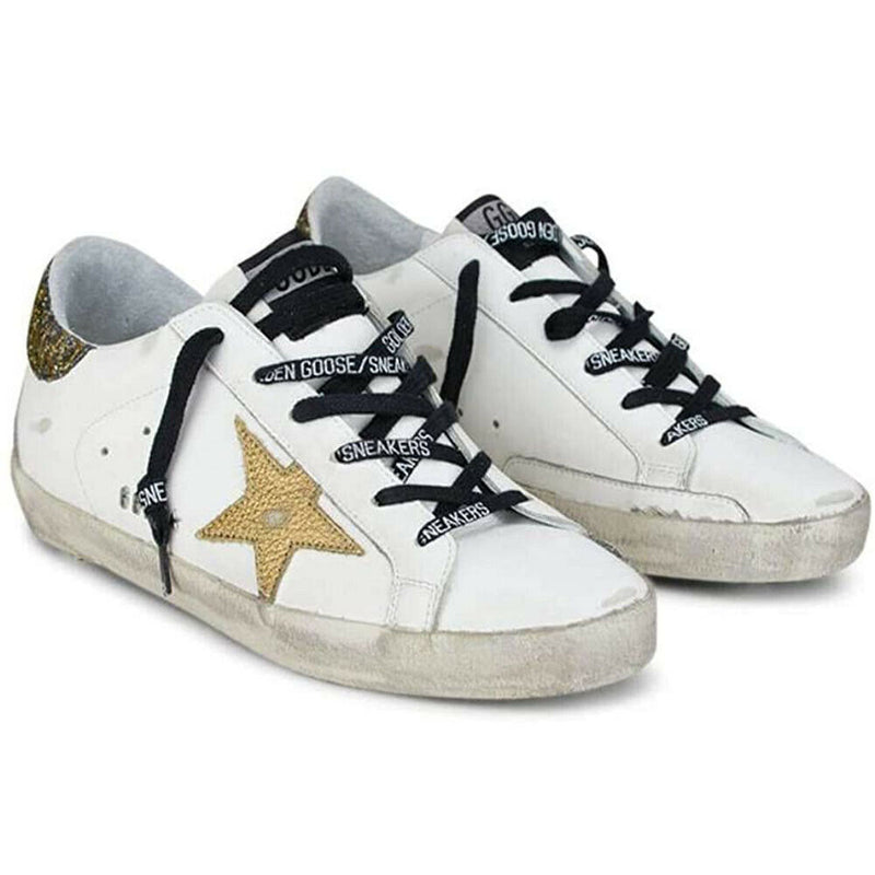 Golden Goose Superstar Women's Sneakers White/Gold Leather Rubber Sole G36WS590.S92