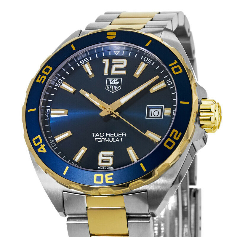 Tag Heuer Formula 1 Navy Blue Dial Two-tone Stainless Steel Men's Watch WAZ1120.BB0879