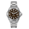 Tag Heuer Aquaracer Caliber 5 Brown Dial Automatic Men's Watch WAY2018.BA0927
