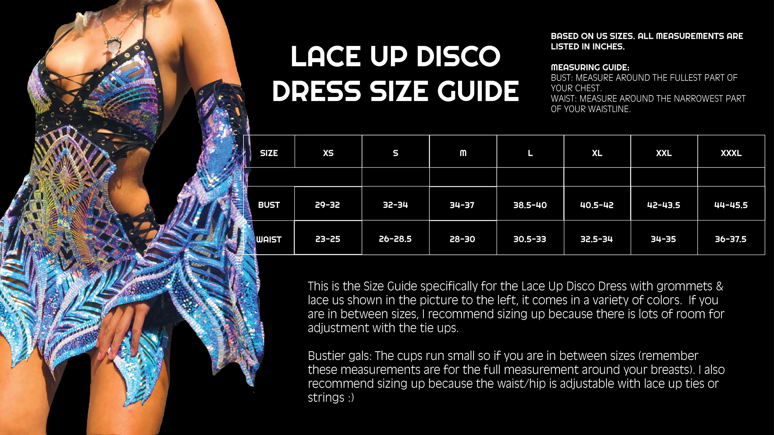 LACE UP SIZE GUIDE
