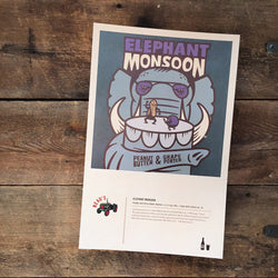 Poster: Elephant Monsoon