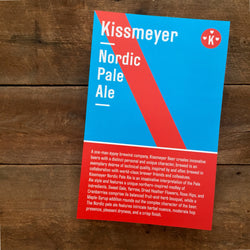 Poster: Kissmeyer Nordic Pale Ale (B-Side Brewing Label)