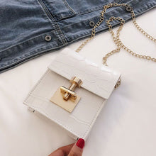"Load image into Gallery viewer, ""Croc"" Mini Crossbody Bag (White) - Belle Avi"