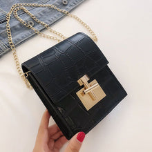 "Load image into Gallery viewer, ""Croc"" Mini Crossbody Bag (Black) - Belle Avi"
