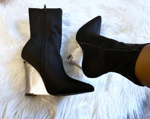 """Estelle"" Wedge Booties - Belle Avi"