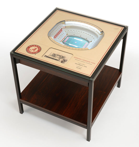 Alabama Crimson Tide | 3D Stadium View | Lighted End Table | Wood