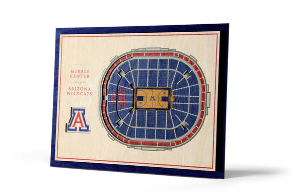 Arizona Wildcats | 3D Stadium View | McKale Center | Wall Art | Wood | 5 Layer