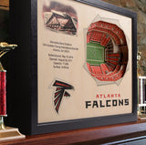 Atlanta Falcons | 3D Stadium View | Mercedes-Benz Stadium | Wall Art | Wood