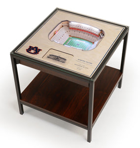 Auburn Tigers | 3D Stadium View | Lighted End Table | Wood