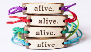 Bracelet by MudLOVE | Alive | Multiple Band Colors | Stretchable Band