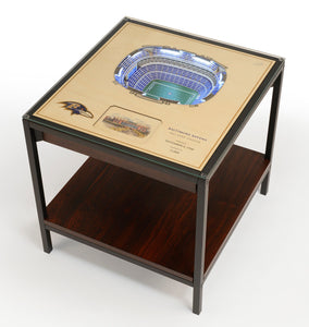 Baltimore Ravens | 3D Stadium View | Lighted End Table | Wood