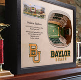 Baylor Bears | 3D Stadium View | McLane Stadium | Wall Art | Wood