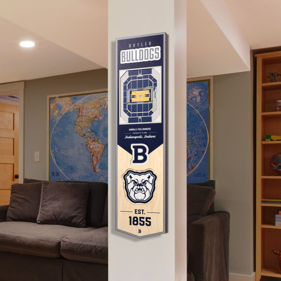 Butler Bulldogs | Stadium Banner | Hinkle Fieldhouse | Wood