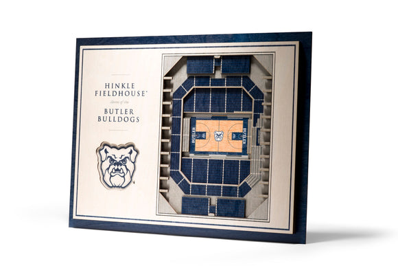 Butler Bulldogs | 3D Stadium View | Hinkle Fieldhouse | Wall Art | Wood | 5 Layer