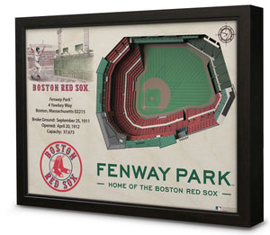 Boston Red Sox | 3D Stadium View | Fenway Park | Wall Art | Wood