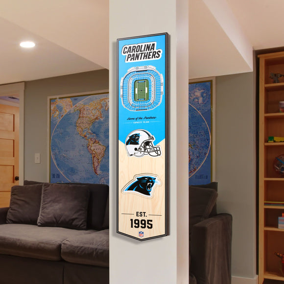 Carolina Panthers | Stadium Banner | Home of the Panthers | Wood