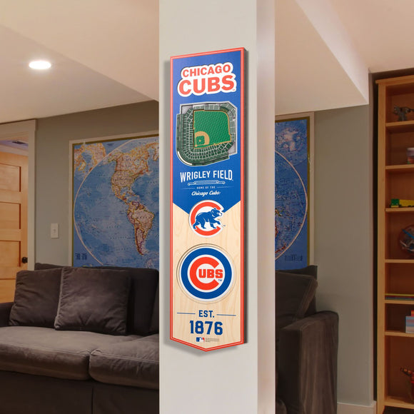 Chicago Cubs | Stadium Banner | Wrigley Field | Wood