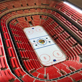 Chicago Blackhawks | 3D Stadium View | Lighted End Table | Wood