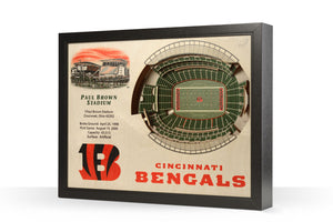 Cincinnati Bengals | 3D Stadium View | Paul Brown Stadium | Wall Art | Wood
